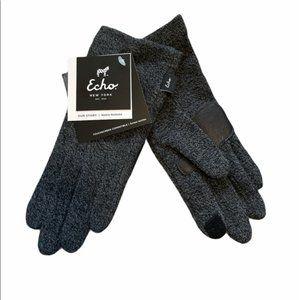 NWT  Echo Dark Grey Touch Design Gloves various sizes
